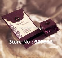 Wholesale Classical Luxury Crystal wedding Invitation cards Birthday Business invitations with envelope Express