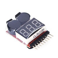 Wholesale 2 in1 RC Lipo Battery Led Low Voltage Meter Tester S S Buzzer Alarm