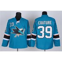 athletic apparel brands - 2015 Hockey Jerseys Sharks Logan Couture Jerseys Teal American Hockey Jersey Team New Jerseys Sportswears Brand Athletic Apparel