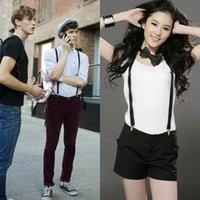Wholesale Women Clip on Elastic Suspenders Y Shape Men Adjustable Braces Solid Color Fancy Dress Colors DCE