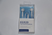 Wholesale For Samsung Galaxy S6 EDGE headphone earphone in ear mm headset With Mic Remote Volume Control with EG920 Package