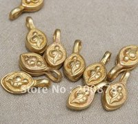 amulet clip - BRO997 Tibetan Buddhist Prayer beads malas counter clips Brass sea snail amulets Eight auspicious symbols
