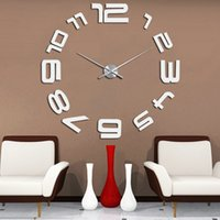 abstract metal wall clock - Beautiful DIY Large Wall Clock D Sticker Metal Big Watches Home Decor Gift cm