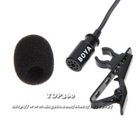 Wholesale Omnidirectional Lapel Clip on Hands free Lavalier Electret Condenser mm Jack Microphone Mic for audio and video recording