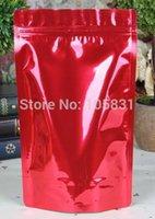 adhesive aluminium foil - 50x cm food grade red foil ziplock bags Colored pure aluminium self adhesive seal stand up pouch