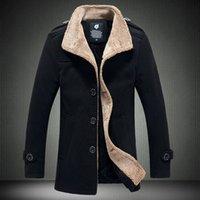 berber jackets - Fall Free postage stand collar berber fleece male woolen jacket outerwear male navy blue p
