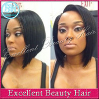 Wholesale Glueless virgin brazilian straight bob short cut human hair lace front wigs full lace wigs bob style for black women