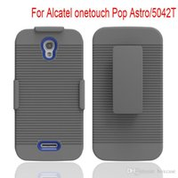 astro covers - 300pcs Dual Layer Heavy Duty Belt Clip Hybrid Rugged Case For Alcatel onetouch Pop Astro T Cover Shockproof