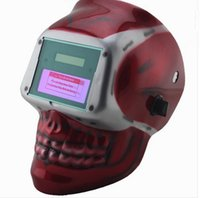 auto darkening welding lens - Welding Helmet Mask Solar Auto Darkening Welding Helmet Arc Tig Mig Mask Weld Welder Lens Grinding Mask Red apes welding mask
