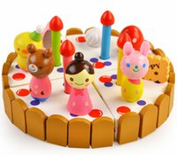 Wholesale Educational Mini Wooden Toys Authentic Mother Garden Strawberry Cake Puzzle Simulation kitchens play food Christmas birthday gift