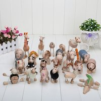 action farm toys - New arrival models mixed Anamalz wooden action animal toy farm Animal model doll