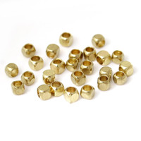 Wholesale Copper Seed Beads Square Light Gold About mm x mm Hole about mm new