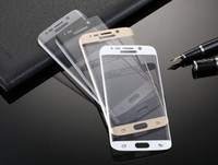 Wholesale 3D Curved Tempered Glass Colorful Full Front Color LCD H HD Premium Screen Protector for Sumsung S6 Edge