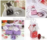 Wholesale Ring Keychain Key Chain Wedding Favors Bridal Shower Favors colors