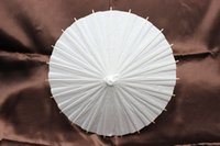 Wholesale White paper umbrellas DIY painting parasols Handmade Chinese bamboo umbrella Wedding parasol inches Drop shipping