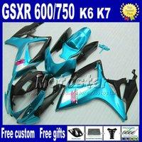 Wholesale Customize fairing kit for SUZUKI GSXR K6 green black motobike parts GSX R fairings set GG6 gifts