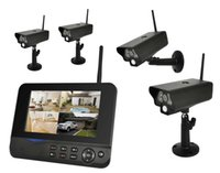 Wholesale Home CH inch LCD Monitor G Wireless DVR Security CCTV Camera Recording Quad System Night Vision Outdoor