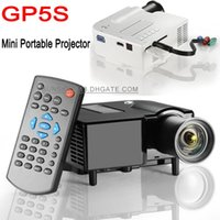 Wholesale 2015 Newest GP5S Projector P Full HD Mini Pico Portable TV Home LED Digital Proyector A V AV USB SD HDMI Projectors