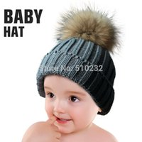 apparel for kids baby - New Baby Kids Snow Hat Winter Wool Knit Beanie Raccoon Hats For Children Apparel Accessories Fashion Hat Christmas Gift