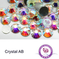 Wholesale SS3 SS30 Shine Glass Material Round Loose Clear Crystal AB Non Hotfix Nail Art Rhinestones Glass Glue on Flatback Strass