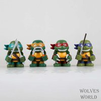 Wholesale Animation Toys Q version of Teenage Mutant Ninja Turtles Movable Model POP cm Action Figures PVC Superior Gifts