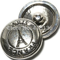 jewelry paris - NSB1326 Hot Sale Snap Jewelry Button For Bracelet Necklace Fashion DIY Jewelry Tower Snaps Eiffel Tower Paris Buttons
