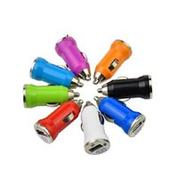 Wholesale For iPhone6 USB Car Charger Adapter V A Mini Universal Colorful Bullet Auto Chargers For Samsung iPhone HTC iPad and Other Electronics