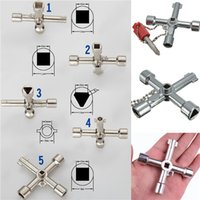 Wholesale 5 In Cross Switch Key Wrench With Accessories Universal Square Triangle Train Electrical Cupboard Box Elevator Cabinet Alloy