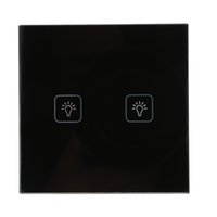 Wholesale Newewt UK Standard Touch Switch White Black Crystal Glass Switch Panel Wall Light Touch Screen Switch pc GT051 order lt no track
