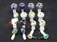 bowling ball - 1pcs Colorful Eye Ball Male models mm mm Heady glass bowl female Glass Bowl Water Pipe for Glass water Bong Smoking Pipe