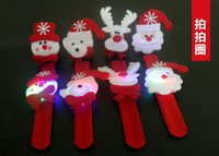 Wholesale christmas hallowmas High end lighted decoration Cloth art clap circle kid Brian circle children ribbon lamp Ball bracelets Decorations