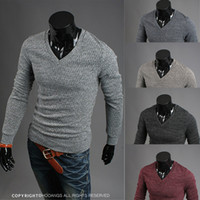 Wholesale Men s Pullover Sweater V Neck Man T33