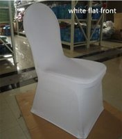 Wholesale 100pcs white chair cover chair sashes Polyester Spandex wedding Banquet party decorations