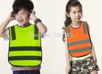 Wholesale custom printing logo Children s reflective vest High Visibility Jackets children go to school wear vest transportation