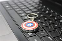 Wholesale 2015 New arrival AVENGERS GB GB GB USB Flash Drive pen drive thumb drive Captain America Shield memory stick