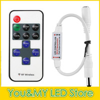 Wholesale RF Dimmer Controller Switch Mini DC V Keys For Single Color Led Strip lamps Light lighting