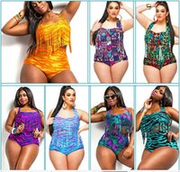animal print swimsuits for women - 2016 Newest Plus Size L XL Summer Style Pinup Rockabilly High Waist Swimsuit Printing Fringe Tassels Sexy Fat Bikini For Women