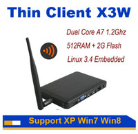 Wholesale Thin Client X3W Wireless Cloud Point Network Terminal with A9 Dual Core Ghz G RAM G Flash Support XP win7