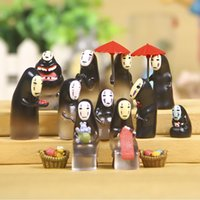 Wholesale spirited away no face man micro landscape decoration potted flowers gardening ornaments action figure
