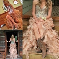 Cheap 2015 Sexy Crystal Prom Dresses In Short Front And Long Back With Rhinestones Beading Sweetheart Corset Bodies High Low Party Evening Gowns