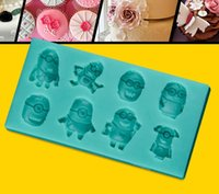 Wholesale 3D Minions Despicable Me Silicon Moulds Fondant Molds Chocalate Moulds Cake Decorating Molds Minions Baking DIY Moulds Bake Tools Cake Molds