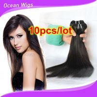 Wholesale Brazilian virgin remy human hair weave Peruvian Indian straight hair extension inch double weft natural color dyeable