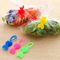 Wholesale 10pcs Love Environmental Silicone Plastic Bags Sealing Clip Food Bag Clamp