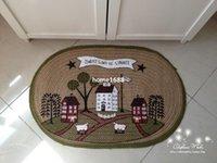 bath rugs linens - Linen Carpet For Living Room Decorative Zakka Rectangle Rugs Door Floor Absorbent Non Slip Bath Mats Tapis