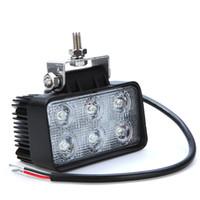 used trucks - 18W LED Work Light Lamp Car Fog Light Led Bulb For Jeep SUV ATV Off road Truck Vehicle Night Use K IP67 Waterproof FREE DHL wxq