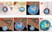 Wholesale hot sale designs Frozen necklace jewelry Elsa Anna Pendant princess necklace baby birthday gift for kid Christmas gift D427