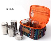barbecue essentials - New Barbecue tools barbecue essential outdoors spice jar condiment bottles boxes of spices seasoning cans set in Pouch Free DHL
