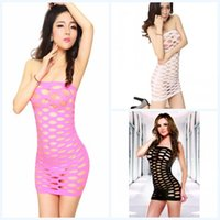 free japanese girl - Fashion Hot Sexy Tight Clothes Lin Tai Dress White Purple Black Pink Sexy Clothing Set Japanese Girls Sex Costumes With Big Mesh DHL free