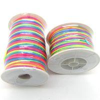 silk cord - 100Yard Fashion Korea Silk Shamballa Waxed Cotton Cord Jewery Beading Cord String For Necklace Bracelet HA937