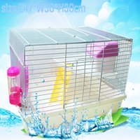Wholesale 2015 New multicolor pet Guinea Pig hamster cage Oversized Travel carry ferret Fold cages Pet accessories Fitting